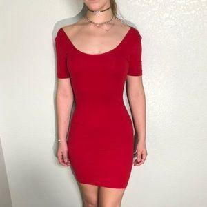American Apparel red mini dress
